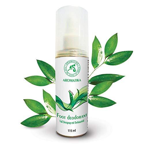 Fußspray mit 100% Natürlichem Teebaumöl und Pfefferminzduft - Fußdeospray für Fußpflege und Gegen Fußgeruch