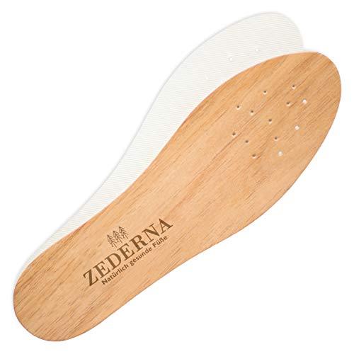 Zederna Zedernsohlen, Zedernholzsohlen gegen Schweißfüße, Fußgeruch & Schuhgeruch. 100% natürlich & antibakteriell. Effektiv gegen Fußpilz, Nagelpilz. Frischesohlen/Barfußsohlen.